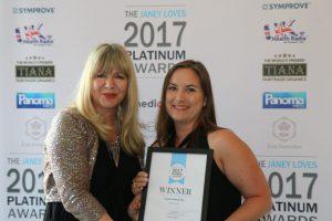 Janey Loves FoodScan Junior platinum award presentation